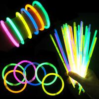 Lot 10pcs Glow Sticks Bracelets Necklaces Neon Colours Party Favors Rave Disco