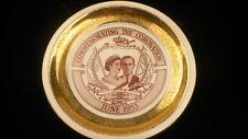 "Queen Elizabeth coronation Georgian china plate 9.25"" Duke of Edinburgh  #cp"