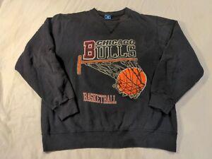 Vintage Champion Label - CHICAGO BULLS Basketball Hoop (XL) Sweatshirt Pullover