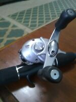 H2O Express reel with Zebco rod--nice  baitcasting combo