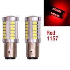 2stk LED Car Red Bulbs BA15S P21W 1157 Backup Reverse Light 33-SMD 5630 5730 12V