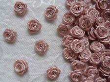 "3/8"" (W) Antique Pink Mini Polyester Satin Ribbon Roses DIY -100 pcs-R0030M"