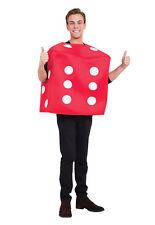 Dados del póker Disfraz Vestido Elegante Rojo Traje de disfraz masculino para hombre adulto de un tamaño