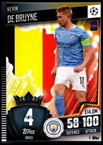 Topps Match Attax 101 Champions League 2020/2021 - 4 Kevin De Bruyne