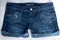 Noble Cut off Low Rise Cuffed Denim blue Jean Shorts size 11