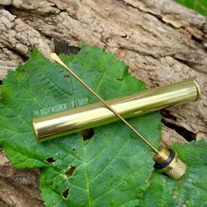 SOLID BRASS NEVER LEAK OILER FOR KNIFE & GUN OIL BUSHCRAFT EDC SHOOTING