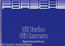 Porsche 911 Turbo/Carrera Mj. 1988 Betriebsanleitung, Bedienungsanleitung