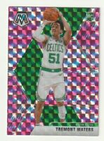 2019-20 Panini Mosaic Prizm Pink Camo Tremont Waters Boston Celtics SP RC #214