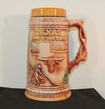 Texas Lone Star State Stein Placo 7 inches tall (6114)