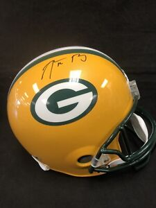 Aaron Rodgers Green Bay Packers Autographed Signed Riddell Helmet - Fanatics