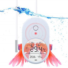 Aquarium Thermometer with Alarm,Fish Tank Thermometer with Large Clear with and