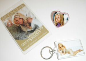 Jessica Simpson concert tour item LOT Keychain ring and more