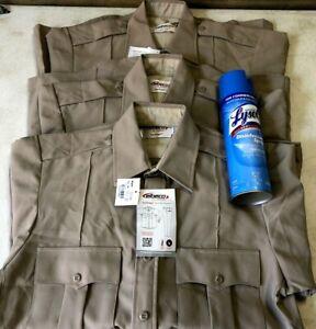 Elbeco Tex Trop 2 Security Enforcement Performance Shirt Lot (3) Mens 15 New Tag