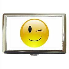 Winking Face Emoticon Emoji Cigarette Money Case