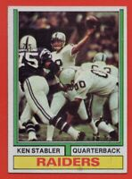 1974 Topps #451 Ken Stabler EX-EXMINT Oakland Raiders HOF AP FREE SHIPPING