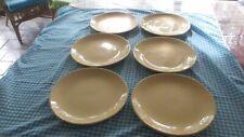 Vintage Johnson  Bros Yellow  dinner plates x6, 25 cms across