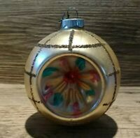 Large Vintage Shiny Brite Indent Christmas Tree Glass Ornament Germany Mica