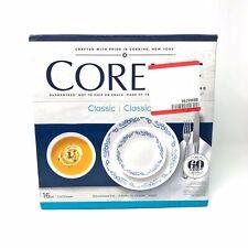 Corelle Livingware Cornflower 16-Piece Dinnerware Set Stoneware Plates Bowls Mug