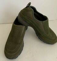 Womens Timberland Casual Shoe Slip on Green Suede Size 6.5