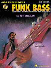 LEARN FUNK BASS - JON LIEBMAN BASS GUITAR TAB BOOK + CD