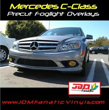 Mercedes Fog Light Overlays Yellow TINT French EDM JDM Film Class C63 C350 C300