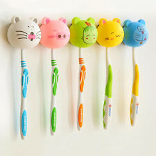 Lovely Cartoon Animal Head Toothbrush Holder Stand Cup Mount Suction Random 1PC