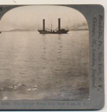 Flettner Rotor Schiff (keine Segel) New York City NY Keystone stereoview 1924