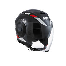 CASCO JET AGV FLUID MULTI EQUALIZER BLACK/GREY TAGLIA XL (61-62) DOPPIA VISIERA