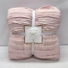 NEW Pottery Barn TEEN Pretty Pleats TWIN~TWIN XL Quilt~Powdered Blush Pink