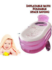 Pink Adult Portable SPA Blowup Inflatable Bath Tub Home Indoor Blow Up Bathtub