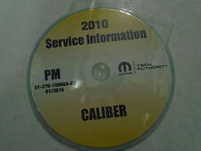 2010 DODGE CALIBER Service Shop Repair Manual CD DVD DEALERSHIP BRAND NEW 2010