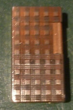 briquet Flaminaire à gaz plaqué or vintage années seventies  6 x 3,2 cm