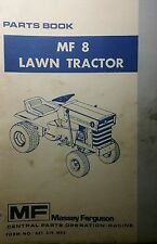 Massey Ferguson MF 8 Lawn Garden Tractor & Implements Master Parts Manual 98pg