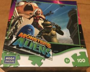 MONSTER VS ALIENS Children JIGSAW PUZZLE 100 pcs MEGA PUZZLES NEW Free shipping