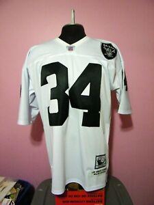 Los Angeles Raiders Bo #34 Jackson Mitchell Ness Throwback Replica Jersey