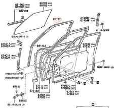 Genuine Toyota Landcruiser FJ60 FJ62 HJ60 FRONT Window Run Channel Rubber SEAL