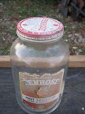 Original Antique Vintage PENROSE Hot Sausage Empty Jar Bottle
