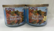 2 Sweater Weather Scented Candle Bath & Body Works 14.5 Oz