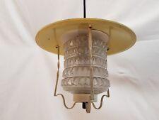 Mid Century Pendelleuchte Küchenlampe Flurlampe ° Pastell Gelb 50er 60er Jahre