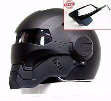 CASCO ELMETTO BLACK IRONMAN MOTORCYCLE HELMET HERO ! ABS AUTOMIC MAN SIZE:M- XL