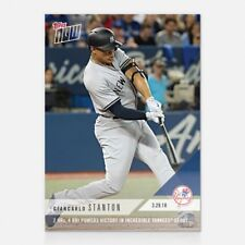 2018 TOPPS NOW #3 GIANCARLO STANTON 2 HRs AND 4 RBI IN YANKEES DEBUT