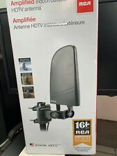 RCA Amplified Indoor / Outdoor HDTV Antenna Long Range 40+ Miles Made In USA