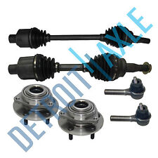 Front Left and Right CV Axle Shaft No ABS + New 2 Tie Rod +2 Wheel Hub Bearing