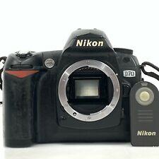 Nikon D70 6.1MP Digital SLR Camera Black w/ Remote Control from Japan [KC]