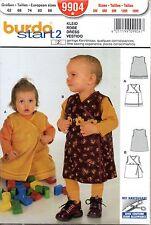 Patron Burda Start 2 9904 - Robe portefeuille bébé 3 mois à 18 mois