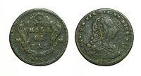 pcc1686) REGNO DI NAPOLI - Carlo di Borbone - Grano (3 Tornesi) 1756 con GRAFFIO