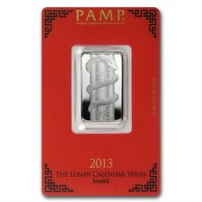 PAMP Suisse Lunar Year of the Snake 2013 10 g gram .999 Silver Bar (in Assay)