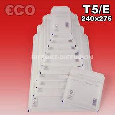 Lot 100 Enveloppes à bulles pochettes Blanches ECO 220x265 mm 5/E (ext. 240x275)