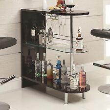 High Kitchen Bar/Breakfast Counter Height/Wine Glass Shelf/Stemware Rack Table