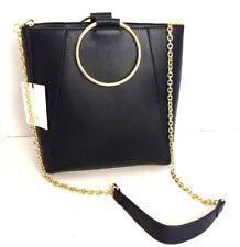Co Lab Colab bangle tote bucket purse handbag bag black gold cross body new